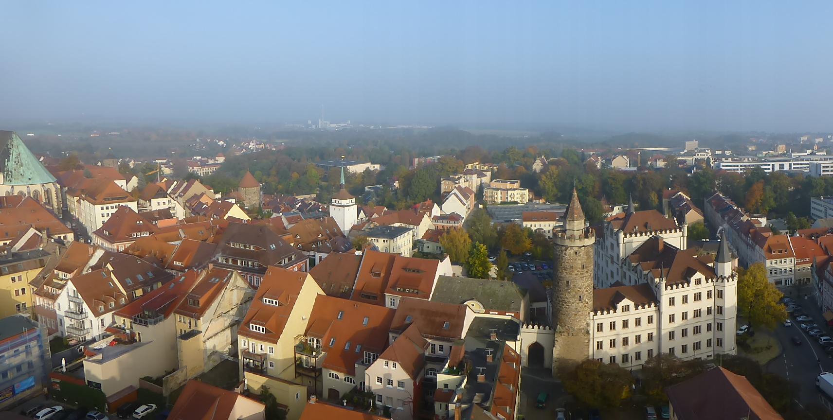 Blick über Bautzen nach Norden . (c) Jörg Freund