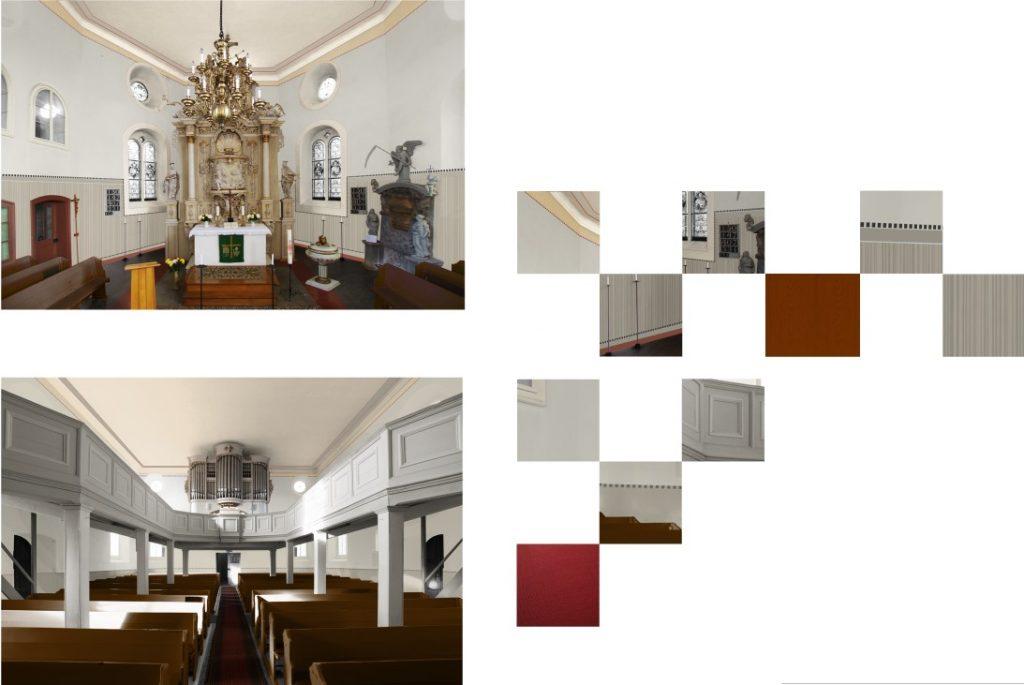 Entwürfe / Visualisierungen von Gestaltungsideen. Farbentwurf