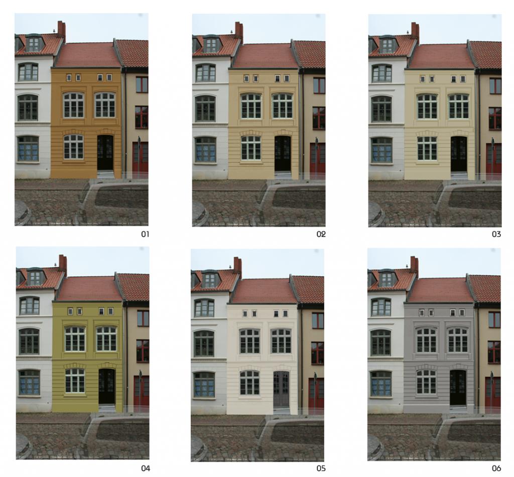 Farbgestaltung am PC: Wismar