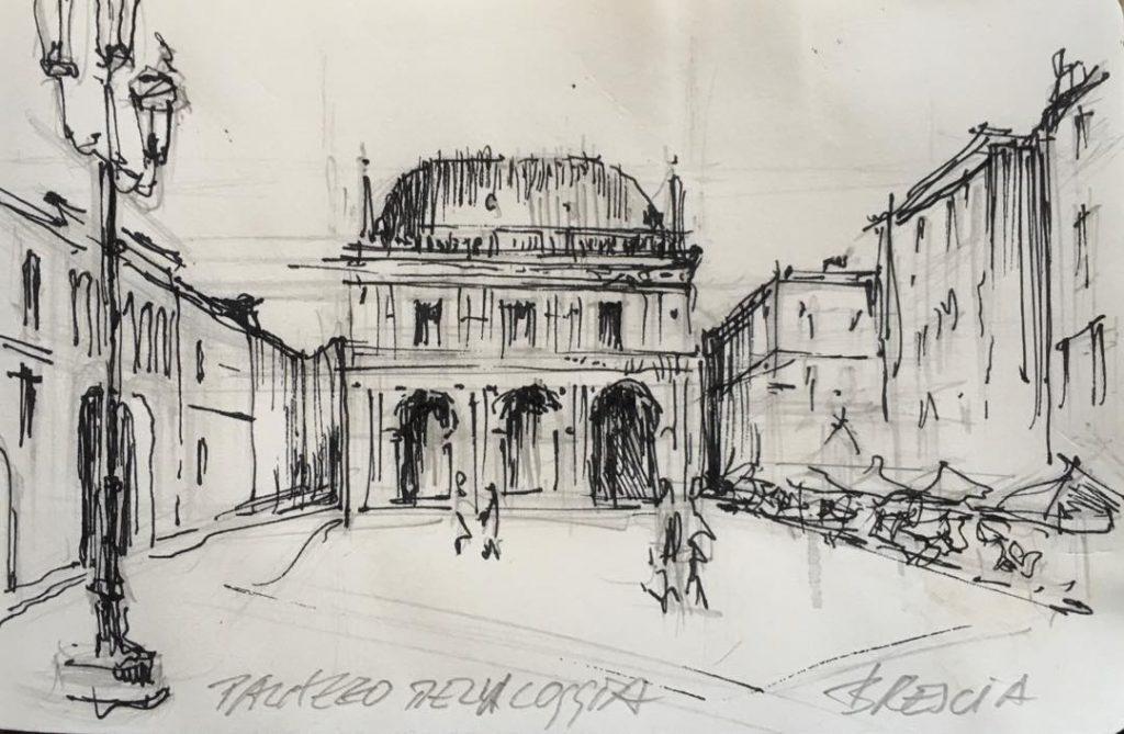 Skizze Palazzo Della Loggia